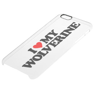 I LOVE MY WOLVERINE UNCOMMON CLEARLY™ DEFLECTOR iPhone 6 PLUS CASE