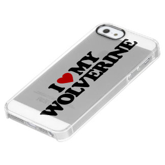 I LOVE MY WOLVERINE UNCOMMON CLEARLY™ DEFLECTOR iPhone 5 CASE