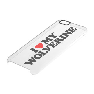 I LOVE MY WOLVERINE UNCOMMON CLEARLY™ DEFLECTOR iPhone 6 CASE