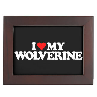 I LOVE MY WOLVERINE MEMORY BOXES