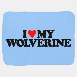 I LOVE MY WOLVERINE RECEIVING BLANKET