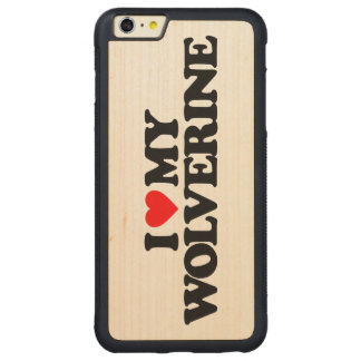 I LOVE MY WOLVERINE CARVED® MAPLE iPhone 6 PLUS BUMPER CASE