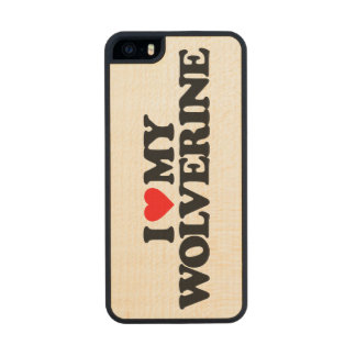 I LOVE MY WOLVERINE CARVED® MAPLE iPhone 5 CASE