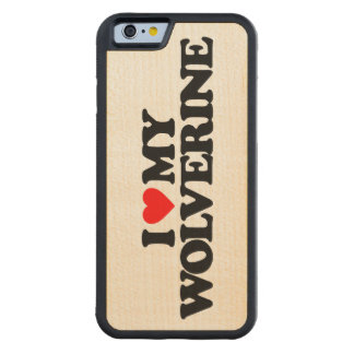 I LOVE MY WOLVERINE CARVED® MAPLE iPhone 6 BUMPER