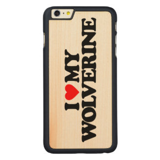I LOVE MY WOLVERINE CARVED® MAPLE iPhone 6 PLUS SLIM CASE