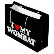 I LOVE MY WOMBAT LARGE GIFT BAG