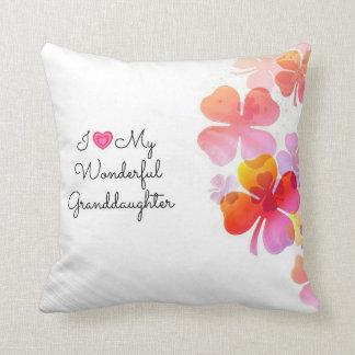I Love My Wonderful Granddaughter, pastel design Throw Pillow