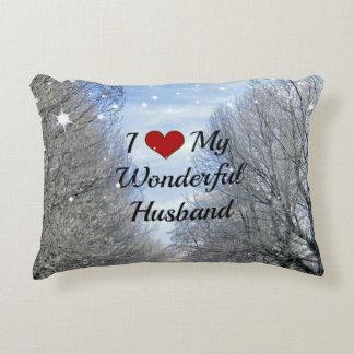 I Love My Wonderful Husband Accent Pillow