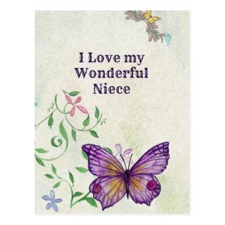 I Love My Wonderful Niece Postcard