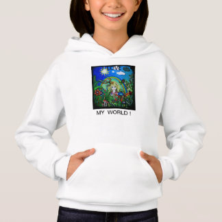 I love my world! for all age groups hoodie