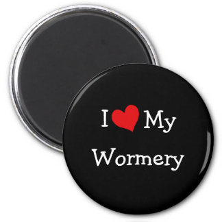 I Love My Wormery 2 Inch Round Magnet