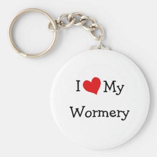 I Love My Wormery Keychain