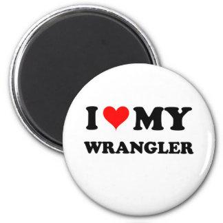 I Love My Wrangler Fridge Magnet