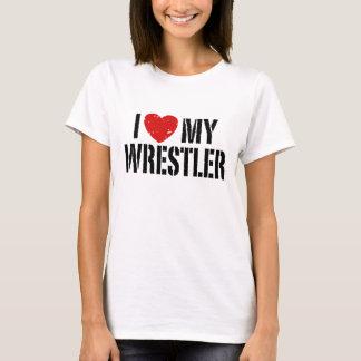 I Love My Wrestler T-Shirt