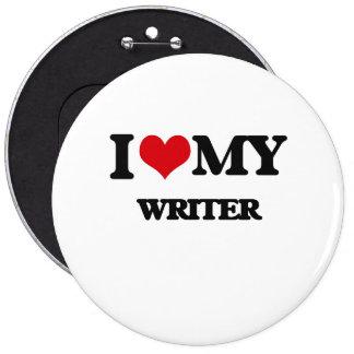 I love my Writer 6 Inch Round Button
