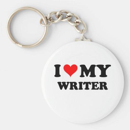 I Love My Writer Keychains