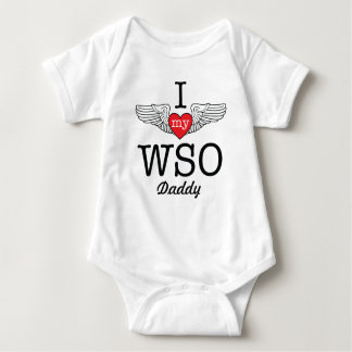 I Love My WSO Daddy with wings graphic Baby Bodysuit