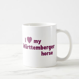 I love my Württemberger horse coffee mug (pink)