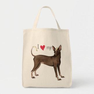 I Love my Xolo Grocery Tote Bag