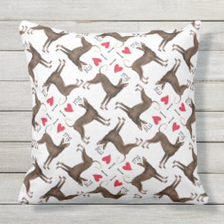 I Love my Xolo Outdoor Pillow