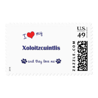 I Love My Xoloitzcuintlis (Multiple Dogs) Postage