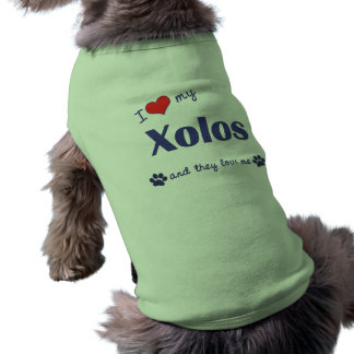 I Love My Xolos (Multiple Dogs) Pet T Shirt