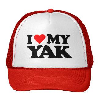 I LOVE MY YAK TRUCKER HAT