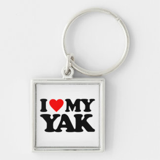 I LOVE MY YAK KEY CHAINS