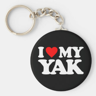 I LOVE MY YAK KEY CHAIN