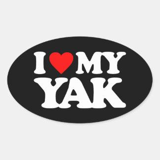 I LOVE MY YAK OVAL STICKER