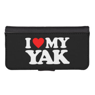 I LOVE MY YAK iPhone 5 WALLET