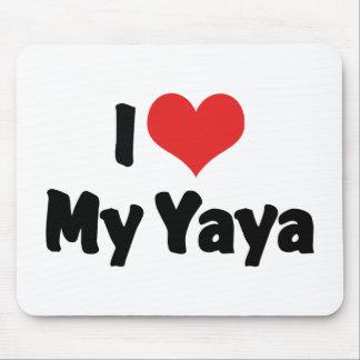 I Love My Yaya Mousepads