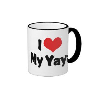 I Love My Yaya Ringer Mug
