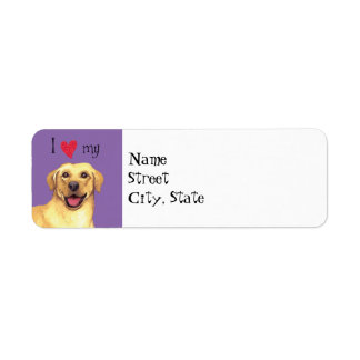 I Love my Yellow Lab Label