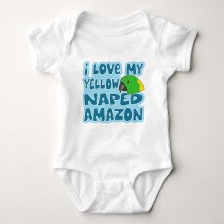 I Love My Yellow Naped Amazon Baby Creeper
