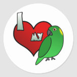 I Love my Yellow Naped Amazon Stickers