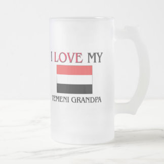 I Love My Yemeni Grandpa Frosted Glass Beer Mug