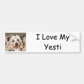 I Love My Yesti Car Bumper Sticker
