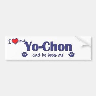 I Love My Yo-Chon (Male Dog) Car Bumper Sticker