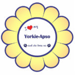 I Love My Yorkie-Apso (Female Dog) Photo Cut Out