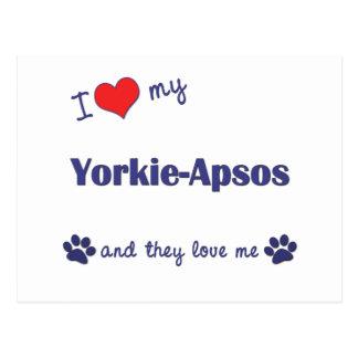 I Love My Yorkie-Apsos (Multiple Dogs) Postcard