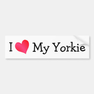 I Love My Yorkie Bumper Sticker