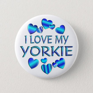I Love My Yorkie Button