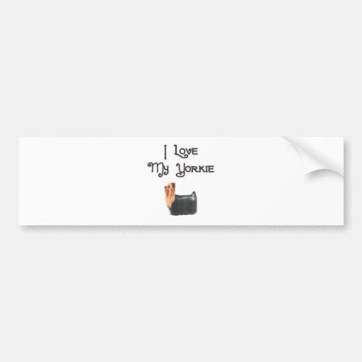 I Love My Yorkie Car Bumper Sticker