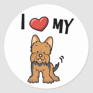 I love my Yorkie Classic Round Sticker