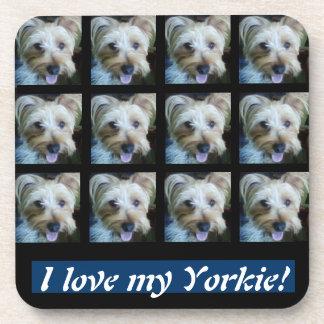 I Love My Yorkie! Cork Coaster