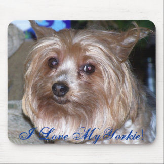 I Love My Yorkie! - Customized Mouse Pad