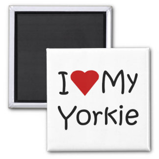 I Love My Yorkie Dog Breed Lover Apparel and Gifts Magnet
