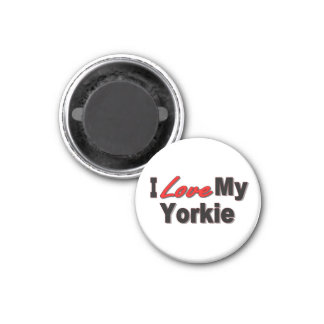 I Love My Yorkie Dog Gifts and Apparel Magnet