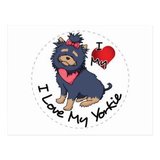 I Love My Yorkie Dog Postcard